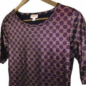 NEW LuLaRoe Women's Metallic Shirt Size Medium